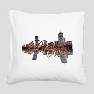 Boston Square Canvas Pillow