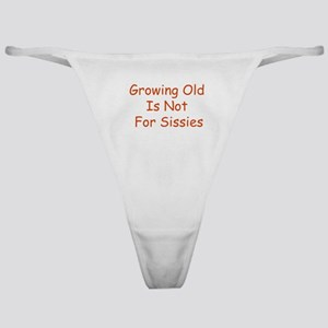 Growing Old Classic Thong