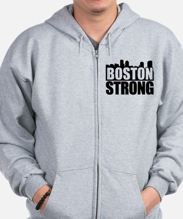 Boston Strong Black Zip Hoodie