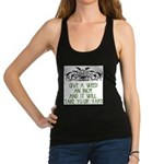 Give a Weed an Inch Racerback Tank Top