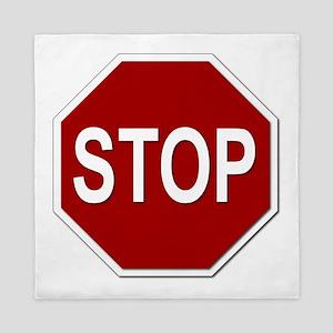Sign - Stop Queen Duvet