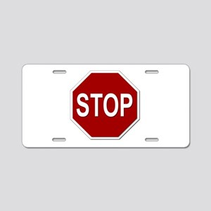 Sign - Stop Aluminum License Plate