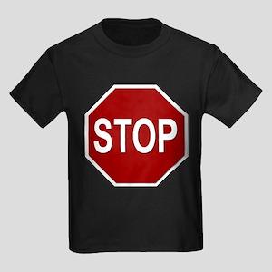 Sign - Stop Kids Dark T-Shirt