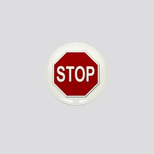 Sign - Stop Mini Button