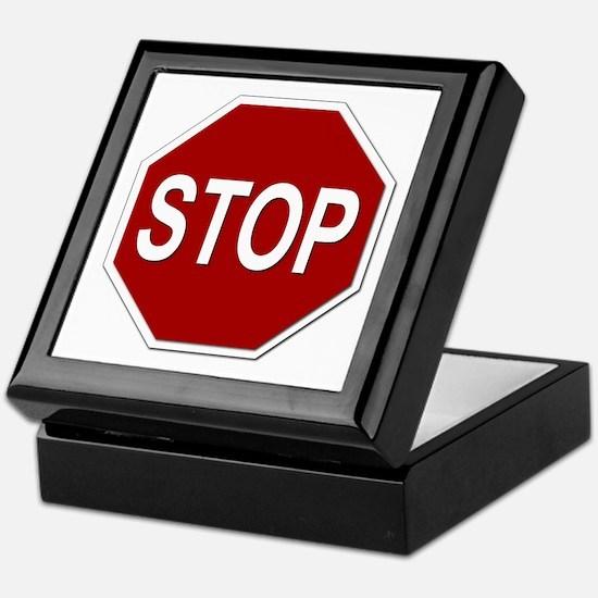 Sign - Stop Keepsake Box