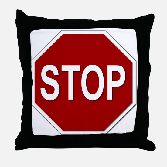 Sign - Stop Throw Pillow