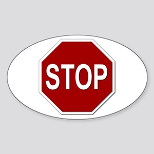 Sign - Stop Sticker (Oval)