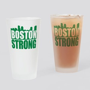 Boston Strong Green Drinking Glass