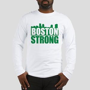 Boston Strong Green Long Sleeve T-Shirt