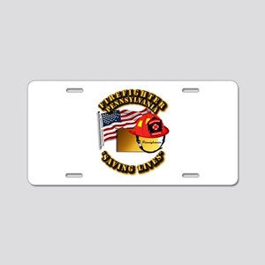 Fire - Firefighter - PA Aluminum License Plate