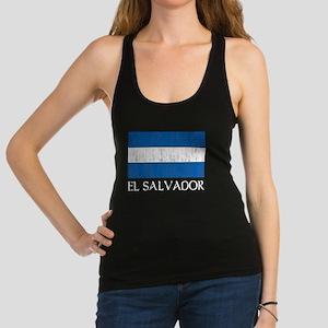 El Salvador Flag Racerback Tank Top