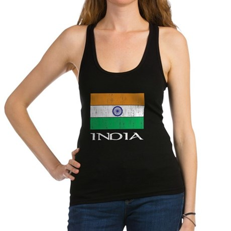 India Flag Racerback Tank Top