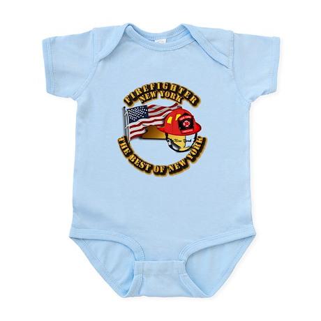 Fire - Firefighter - New York Infant Bodysuit