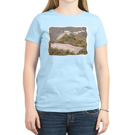 Climbed Great Wall Photo - Women's Pink T-Shirt