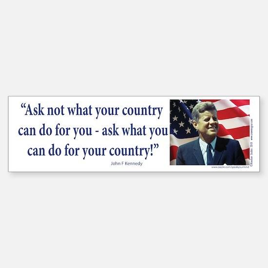 John F Kennedy Sticker (Bumper)