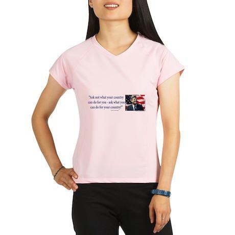 John F Kennedy Performance Dry T-Shirt