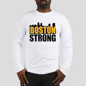 Boston Strong Gold Black Long Sleeve T-Shirt