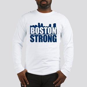 Boston Strong Blue Long Sleeve T-Shirt