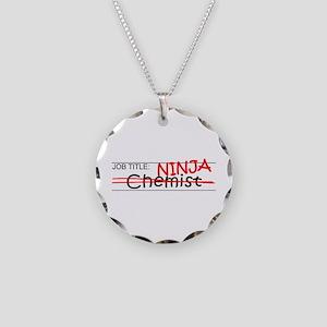 Job Ninja Chemist Necklace Circle Charm