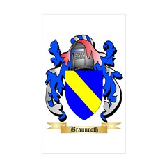 Braunroth Sticker (Rectangle 50 pk)