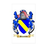 Braunfeld Sticker (Rectangle 50 pk)