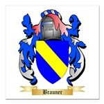 Brauner Square Car Magnet 3