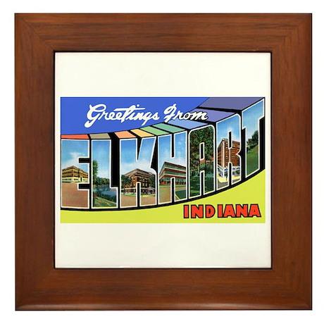 Elkhart Indiana Greetings Framed Tile