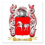 Braudel Square Car Magnet 3