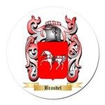 Braudel Round Car Magnet