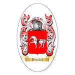 Braudel Sticker (Oval 50 pk)