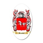 Braudel 35x21 Oval Wall Decal