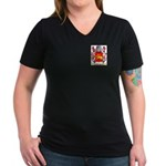 Brassill Women's V-Neck Dark T-Shirt