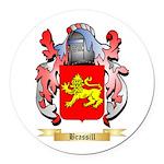 Brassill Round Car Magnet