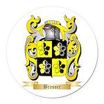 Brasser Round Car Magnet