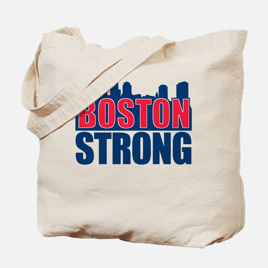 Boston Strong Red Blue Tote Bag