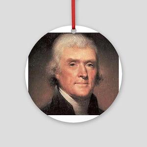 Thomas Jefferson Ornament (Round)