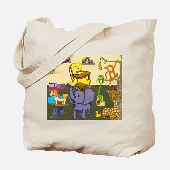 Baby Boys Room with nursery toys Tote Bag