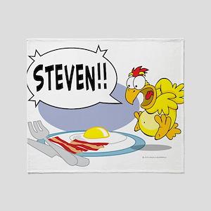 Steven the Egg Throw Blanket