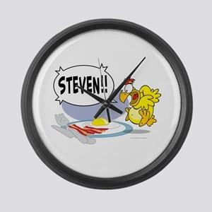 Steven the Egg Large Wall Clock