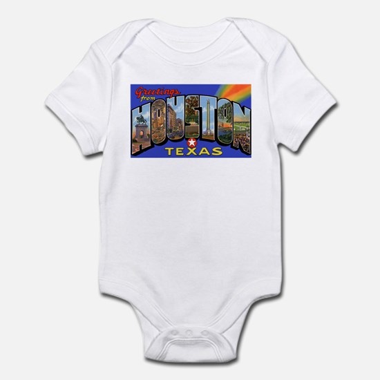 Houston Texas Greetings Infant Creeper