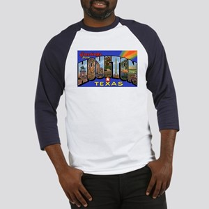 Houston Texas Greetings (Front) Baseball Jersey