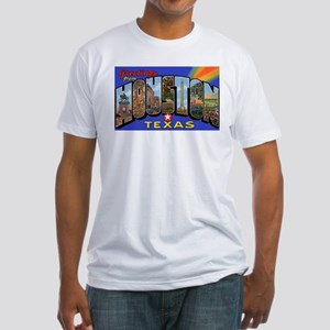 Houston Texas Greetings (Front) Fitted T-Shirt