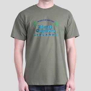 North Captiva Happy Place - Dark T-Shirt
