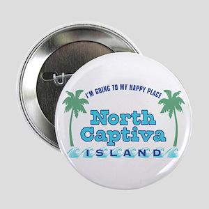 """North Captiva Happy Place - 2.25"""" Button"""