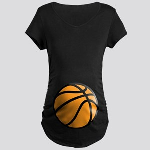 Halloween Basketball Maternity Dark T-Shirt