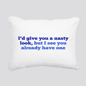 Nasty Look Rectangular Canvas Pillow