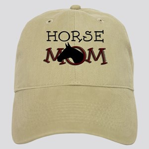 Black horse mom Mother's Day Cap