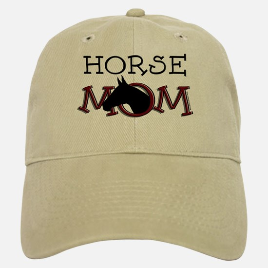 Black horse mom Mother's Day Baseball Baseball Cap
