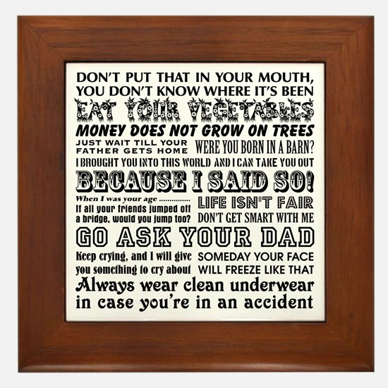 Tile Funny Quotes : Funny mom quotes framed art tiles buy
