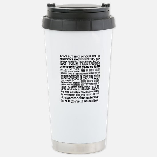 Funny Mother's Day Stainless Steel Travel Mug